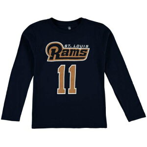 OUTERSTUFF ラムズ 子供用 スリーブ Tシャツ ST. & 【 SLEEVE TAVON AUSTIN LOUIS RAMS YOUTH MAINLINER NAME NUMBER LONG TSHIRT NAVY 】 キッズ ベビー マタニティ トップス 送料無料