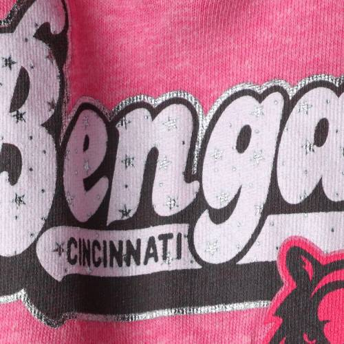5TH & OCEAN BY NEW ERA シンシナティ ベンガルズ 子供用 ゲーム Tシャツ ピンク & 【 GAME PINK 5TH OCEAN BY NEW ERA CINCINNATI BENGALS GIRLS YOUTH STAR OF THE TRIBLEND TSHIRT 】 キッズ ベビー マタニティ ト画像