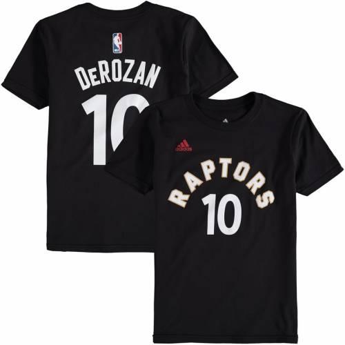 トップス, Tシャツ・カットソー  ADIDAS T GAME DEMAR DEROZAN TORONTO RAPTORS YOUTH TIME FLAT NAME NUMBER TSHIRT BLACK