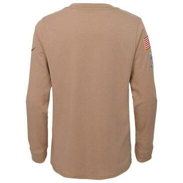 ナイキ NIKE ジェッツ 子供用 パフォーマンス スリーブ Tシャツ カーキ キッズ ベビー マタニティ トップス ジュニア 【 New York Jets Youth 2019 Salute To Service Performance Long Sleeve T-shirt - Khaki 】 K