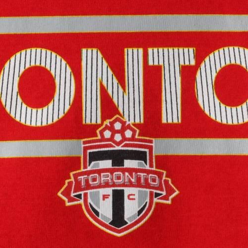 トップス, Tシャツ・カットソー  ADIDAS T SLEEVE TORONTO FC GIRLS YOUTH DASSLER PATTERN LONG TSHIRT RED