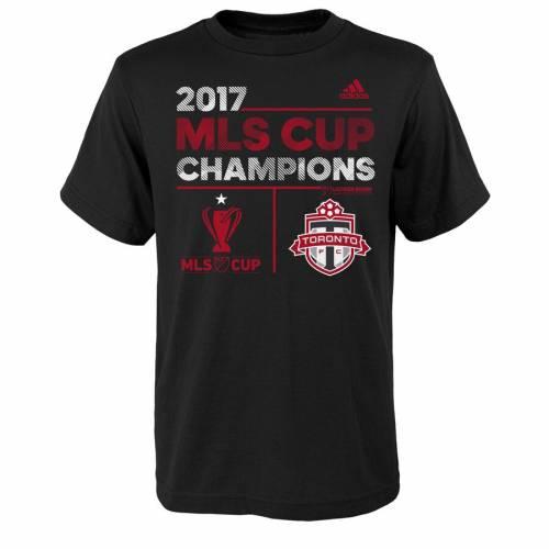 トップス, Tシャツ・カットソー  ADIDAS T TORONTO FC YOUTH 2017 MLS CUP CHAMPIONS LOCKER ROOM TSHIRT BLACK