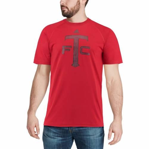 トップス, Tシャツ・カットソー  ADIDAS T RED ADIDAS ELEMENTS PERFORMANCE TSHIRT T