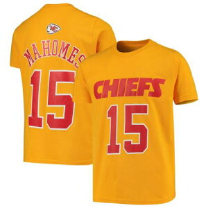 OUTERSTUFF カンザス シティ チーフス 子供用 Tシャツ 黄色 イエロー & 【 YELLOW OUTERSTUFF PATRICK MAHOMES KANSAS CITY CHIEFS YOUTH FASHION NAME NUMBER TSHIRT 】 キッズ ベビー マタニティ トップス Tシャツ