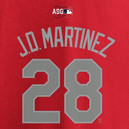 トップス, Tシャツ・カットソー  MAJESTIC T J.D. GAME MARTINEZ AMERICAN LEAGUE 2019 MLB ALLSTAR NAME NUMBER TSHIRT RED