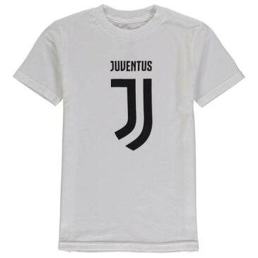 OUTERSTUFF 子供用 ロゴ Tシャツ 黒 ブラック キッズ ベビー マタニティ トップス ジュニア 【 Juventus Youth Primary Logo T-shirt - Black 】 White