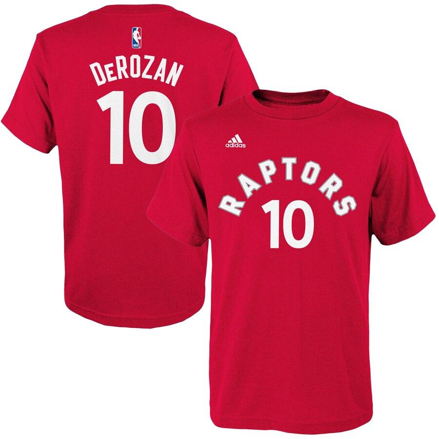 トップス, Tシャツ・カットソー OUTERSTUFF T GAME DEMAR DEROZAN TORONTO RAPTORS ADIDAS YOUTH TIME FLAT NAME NUMBER TSHIRT RED