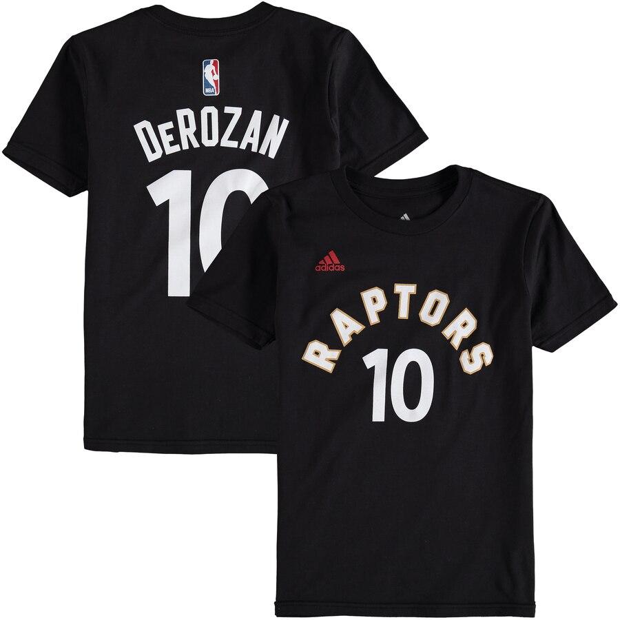 トップス, Tシャツ・カットソー  124-1211OUTERSTUFF T GAME DEMAR DEROZAN TORONTO RAPTORS ADIDAS YOUTH TIME FLAT NAME NUMBER TSHIRT RED BLACK