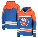 OUTERSTUFF 子供用 【 NEW YORK ISLANDERS YOUTH ASSET LACEUP PULLOVER HOODIE BLUE 】 キッズ ベビー マタニティ 送料無料
