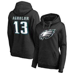 NFL PRO LINE BY FANATICS BRANDED フィラデルフィア イーグルス レディース アイコン 黒 ブラック レディースファッション トップス パーカー 【 Nelson Agholor Philadelphia Eagles Womens Player Icon Name And N
