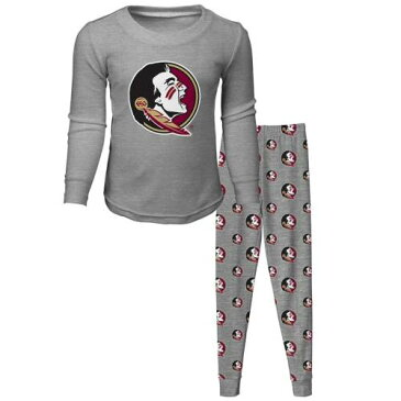 OUTERSTUFF フロリダ スケートボード ベビー 赤ちゃん用 スリーブ Tシャツ 灰色 グレー グレイ 【 STATE SLEEVE GRAY OUTERSTUFF FLORIDA SEMINOLES TODDLER LONG TSHIRT AND PANTS SLEEP SET HEATHERED 】 キッズ ベビー