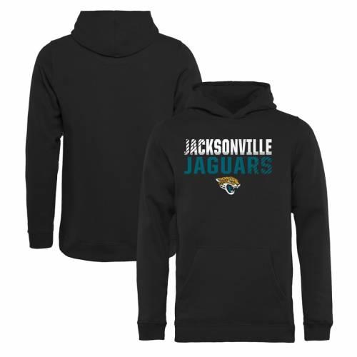トップス, パーカー NFL PRO LINE BY FANATICS BRANDED NFL BLACK PRO LINE BY FANATICS BRANDED JACKSONVILLE JAGUARS YOUTH ICONIC COLLECTION FADE OUT PULLOVER HOODIE