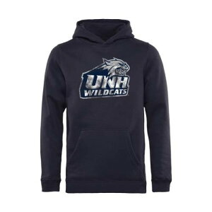 FANATICS BRANDED 子供用 クラシック 紺 ネイビー 【 NAVY FANATICS BRANDED NEW HAMPSHIRE WILDCATS YOUTH CLASSIC PRIMARY PULLOVER HOODIE 】 キッズ ベビー マタニティ トップス