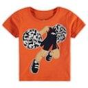 アウタースタッフ OUTERSTUFF デンバー ブロンコス ベビー 赤ちゃん用 Tシャツ 橙 オレンジ 赤ちゃん 幼児 【 ORANGE OUTERSTUFF POM CHEER TSHIRT 】 キッズ ベビー マタニティ トップス Tシャツ