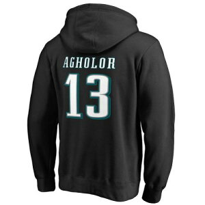 NFL PRO LINE BY FANATICS BRANDED フィラデルフィア イーグルス アイコン 黒 ブラック メンズファッション トップス パーカー メンズ 【 Nelson Agholor Philadelphia Eagles Player Icon Name And Number Pullover Hood