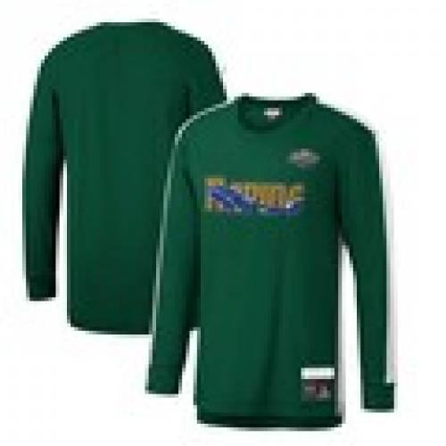 トップス, Tシャツ・カットソー  MITCHELL NESS T 96 SLEEVE GREEN MITCHELL NESS SINCE TSHIRT SHIRT