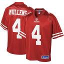 NFL PRO LINE フォーティーナイナーズ チーム ジャージ スポーツ アウトドア アメリカンフットボール メンズ 【 Nick Mullens San Francisco 49ers Team Player Jersey - Scarlet 】 Scarlet