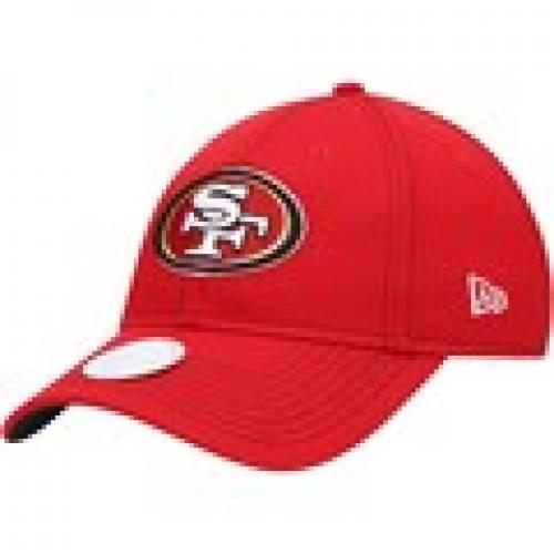 レディース帽子, その他  NEW ERA WOMENS NFL 100 SIDELINE 9TWENTY ADJUSTABLE HAT SCARLET COLOR