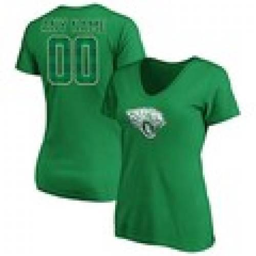 トップス, Tシャツ・カットソー  FANATICS BRANDED V T CUSTOMIZED ITEM WOMENS GREEN FANATICS BRANDED EMERALD PLAID PERSONALIZED NAME NUMBER VNECK TSHIRT SHI