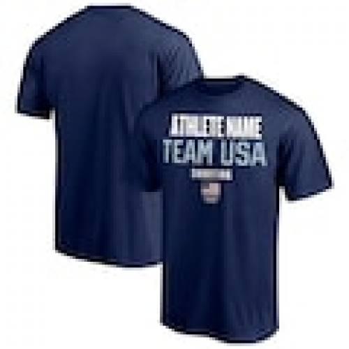 トップス, Tシャツ・カットソー  FANATICS BRANDED T CUSTOMIZED ITEM SHOOTING FANATICS BRANDED USA ATHLETE FUTURES PICKANATHLETE ROSTER TSHIRT NAVY