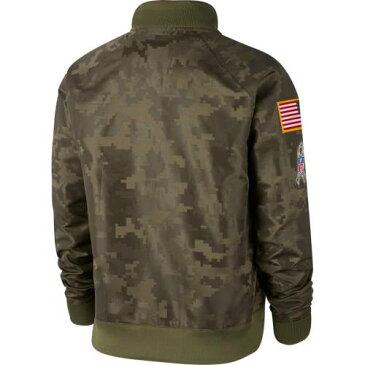 ナイキ NIKE シアトル シーホークス レディース オリーブ 【 Seattle Seahawks Womens 2019 Salute To Service Full-zip Bomber Jacket - Olive 】 Olive