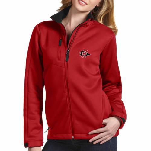 レディースファッション, コート・ジャケット ANTIGUA WOMENS STATE RED ANTIGUA SAN DIEGO AZTECS TRAVERSE FULLZIP JACKET
