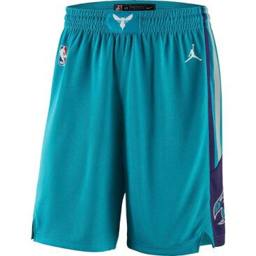 JORDAN BRAND シャーロット ホーネッツ アイコン ショーツ ハーフパンツ アクア スポーツ アウトドア バスケットボール メンズ ショートパンツ 【 Charlotte Hornets 2019/20 Icon Edition Swingman Shorts
