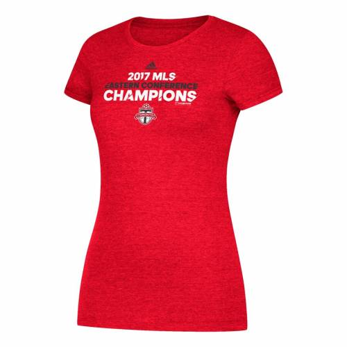トップス, Tシャツ・カットソー  ADIDAS T WOMENS HEATHER RED ADIDAS 2017 MLS CHAMPIONS LOCKER ROOM TSHIRT T