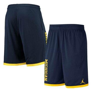 JORDAN BRAND ミシガン チーム クラシック パフォーマンス ショーツ ハーフパンツ 紺 ネイビー メンズファッション ズボン パンツ メンズ 【 Michigan Wolverines Team Classic Performance Shorts - Navy 】