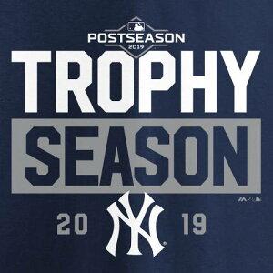 マジェスティック MAJESTIC ヤンキース レディース アラウンド ブイネック Tシャツ 紺 ネイビー レディースファッション トップス カットソー 【 New York Yankees Womens 2019 Postseason Around The Horn