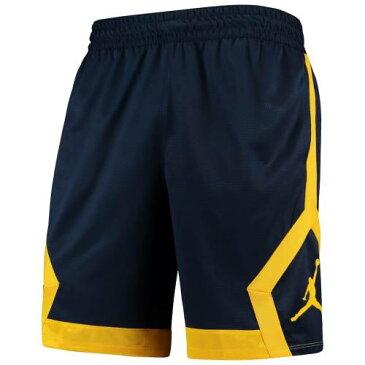 JORDAN BRAND ミシガン ニット パフォーマンス ショーツ ハーフパンツ 紺 ネイビー メンズファッション ズボン パンツ メンズ 【 Michigan Wolverines J Knit Performance Shorts - Navy 】 Navy