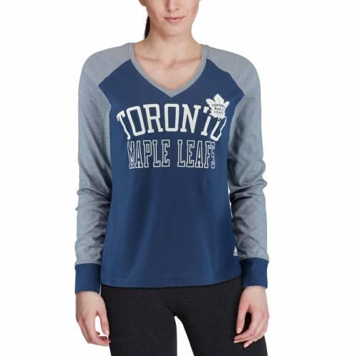 トップス, Tシャツ・カットソー  ADIDAS T WOMENS SLEEVE ADIDAS CONTRAST TSHIRT BLUE T