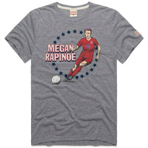 HOMAGE Tシャツ 灰色 グレー グレイ メンズファッション トップス カットソー メンズ 【 Megan Rapinoe Uswnt Player Tri-blend T-shirt - Heathered Gray 】 Heathered Gray