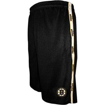 マジェスティック MAJESTIC ボストン トラック ショーツ ハーフパンツ 黒 ブラック メンズファッション ズボン パンツ メンズ 【 Boston Bruins Big And Tall Track Shorts - Black 】 Black