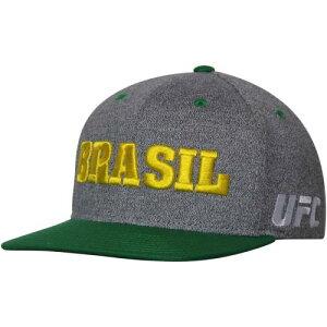 リーボック REEBOK カントリー スナップバック バッグ 【 SNAPBACK UFC BRAZIL COUNTRY PRIDE ADJUSTABLE HAT GRAY 】 キャップ 帽子 メンズキャップ 送料無料