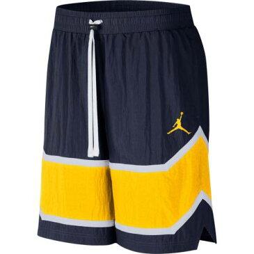 JORDAN BRAND ミシガン ショーツ ハーフパンツ 紺 ネイビー メンズファッション ズボン パンツ メンズ 【 Michigan Wolverines Throwback Shorts - Navy 】 Navy