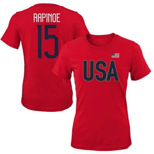 OUTERSTUFF レディース Tシャツ レディースファッション トップス カットソー 【 Megan Rapinoe Uswnt Womens 2019 Fifa Womens World Cup Champions Name And Number T-shirt 】 Red