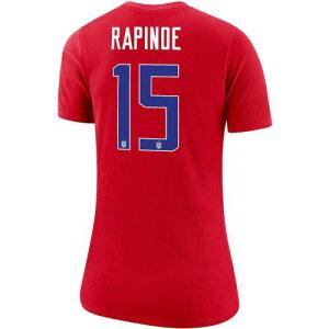 ナイキ NIKE レディース Tシャツ レディースファッション トップス カットソー 【 Megan Rapinoe Uswnt Womens Player Name And Number T-shirt 】 Red