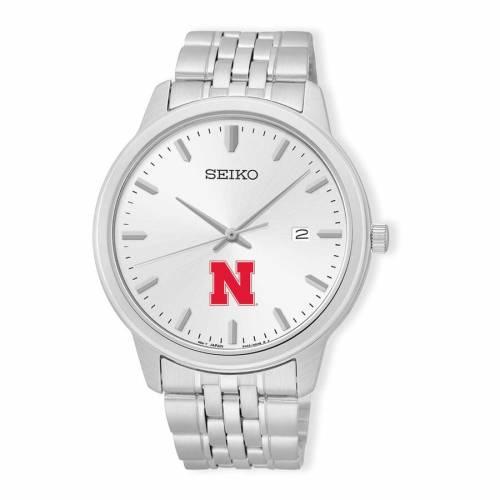 腕時計, メンズ腕時計  SEIKO WATCH SILVER SEIKO NEBRASKA HUSKERS ANALOG QUARTZ STAINLESS STEEL