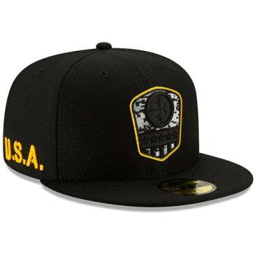 ニューエラ NEW ERA ピッツバーグ スティーラーズ 黒 ブラック バッグ キャップ 帽子 メンズキャップ メンズ 【 Pittsburgh Steelers 2019 Salute To Service 59fifty Fitted Hat - Black 】 Black