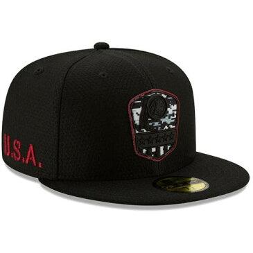 ニューエラ NEW ERA ワシントン レッドスキンズ 黒 ブラック バッグ キャップ 帽子 メンズキャップ メンズ 【 Washington Redskins 2019 Salute To Service 59fifty Fitted Hat - Black 】 Black