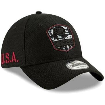 ニューエラ NEW ERA ワシントン レッドスキンズ 黒 ブラック バッグ キャップ 帽子 メンズキャップ メンズ 【 Washington Redskins 2019 Salute To Service 9twenty Adjustable Hat - Black 】 Black