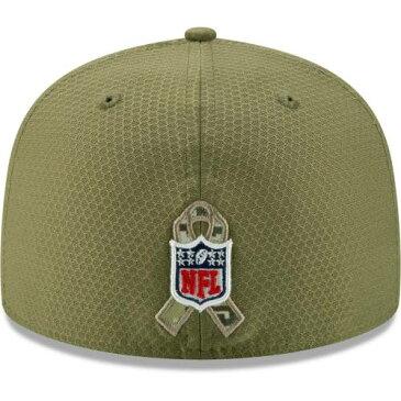 ニューエラ NEW ERA フィラデルフィア イーグルス サイドライン オリーブ バッグ キャップ 帽子 メンズキャップ メンズ 【 Philadelphia Eagles 2019 Salute To Service Sideline 59fifty Fitted Hat - Olive 】 Ol