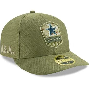 ニューエラ NEW ERA ダラス カウボーイズ サイドライン オリーブ バッグ キャップ 帽子 メンズキャップ メンズ 【 Dallas Cowboys 2019 Salute To Service Sideline Low Profile 59fifty Fitted Hat - Olive 】 Olive