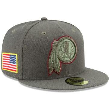 ニューエラ NEW ERA ワシントン レッドスキンズ オリーブ バッグ キャップ 帽子 メンズキャップ メンズ 【 Washington Redskins 2017 Salute To Service 59fifty Fitted Hat - Olive 】 Olive