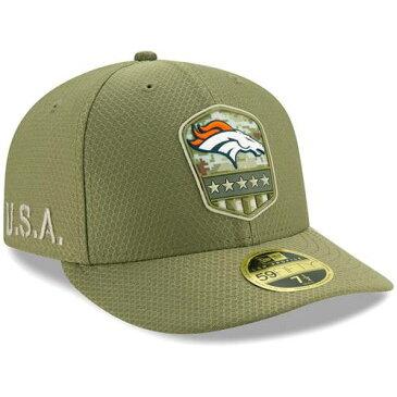 ニューエラ NEW ERA デンバー ブロンコス サイドライン オリーブ バッグ キャップ 帽子 メンズキャップ メンズ 【 Denver Broncos 2019 Salute To Service Sideline Low Profile 59fifty Fitted Hat - Olive 】 Olive