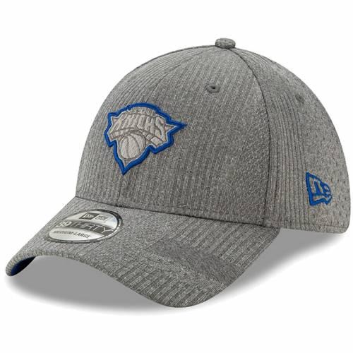 メンズ帽子, その他  NEW ERA YORK KNICKS AUTHENTICS TRAINING SERIES 39THIRTY FLEX HAT GRAY