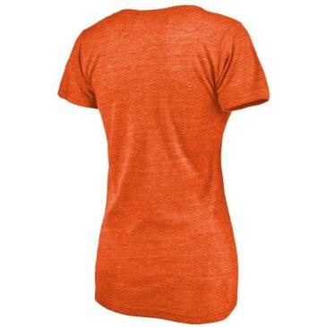 ファナティクス FANATICS BRANDED オレゴン スケートボード ビーバーズ レディース Vネック Tシャツ 橙 オレンジ オレゴンステイト WOMEN'S 【 STATE ORANGE FANATICS BRANDED DOUBLE BAR TRIBLEND VNECK TSHIRT HEAT