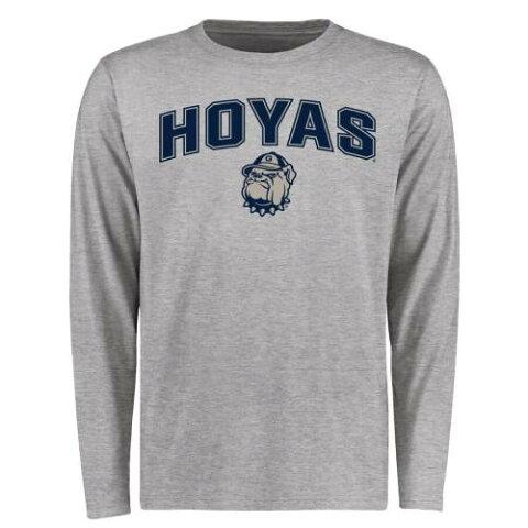 FANATICS BRANDED ジョージタウン スリーブ Tシャツ メンズファッション トップス カットソー メンズ 【 Georgetown Hoyas Proud Mascot Long Sleeve T-shirt - Ash 】 Ash