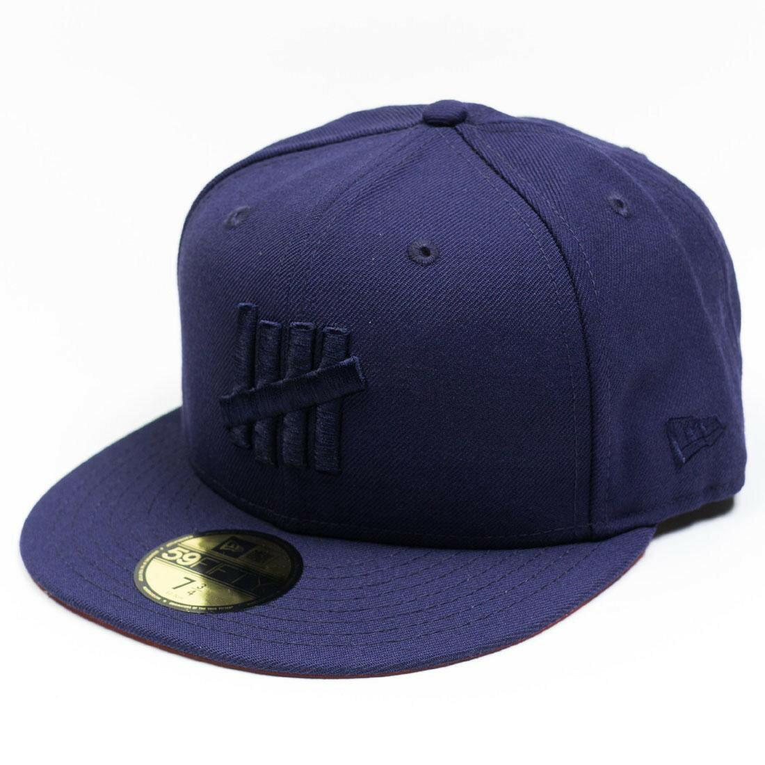 メンズ帽子, キャップ  UNDEFEATED X NEW ERA EJECT FITTED CAP NAVY